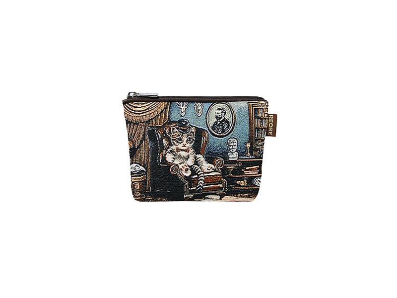 緹花織畫中零錢包 探險羅傑 咖啡 Image